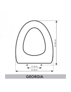 SEAT WC ROCA GEORGIA ADAPTABLE IN RESIWOOD
