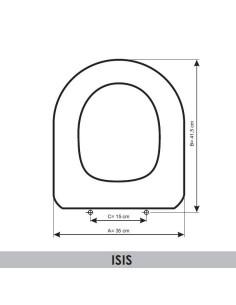 ABATTANT DU WC SANGRÁ ISIS ADAPTABLE IN RESIWOOD