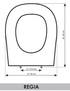 SEAT WC GALA REGINA ADAPTABLE IN RESIWOOD