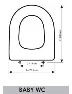 SEDILE WC GALA BABY WC ADATTABILE IN RESIWOOD