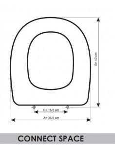 Sedile wc ideal standard esedra adattabile in resiwood it for Sedile wc ideal standard esedra