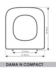 SEDILE WC ROCA DAMA COMPACT ADATTABILE IN RESIWOOD