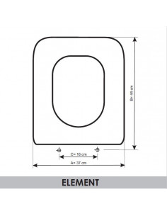 SEAT WC ROCA ELEMENT ADAPTABLE IN RESIWOOD