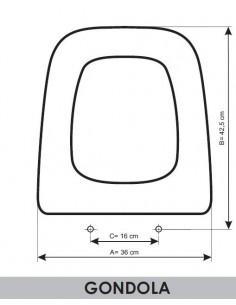SEAT WC ROCA GÓNDOLA ADAPTABLE IN RESIWOOD