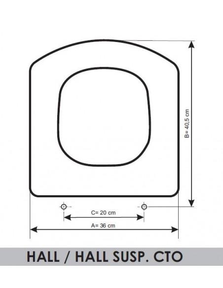 TAPA WC ROCA HALL/HALL SUP.COMPACTO ADAPTABLE EN RESIWOOD