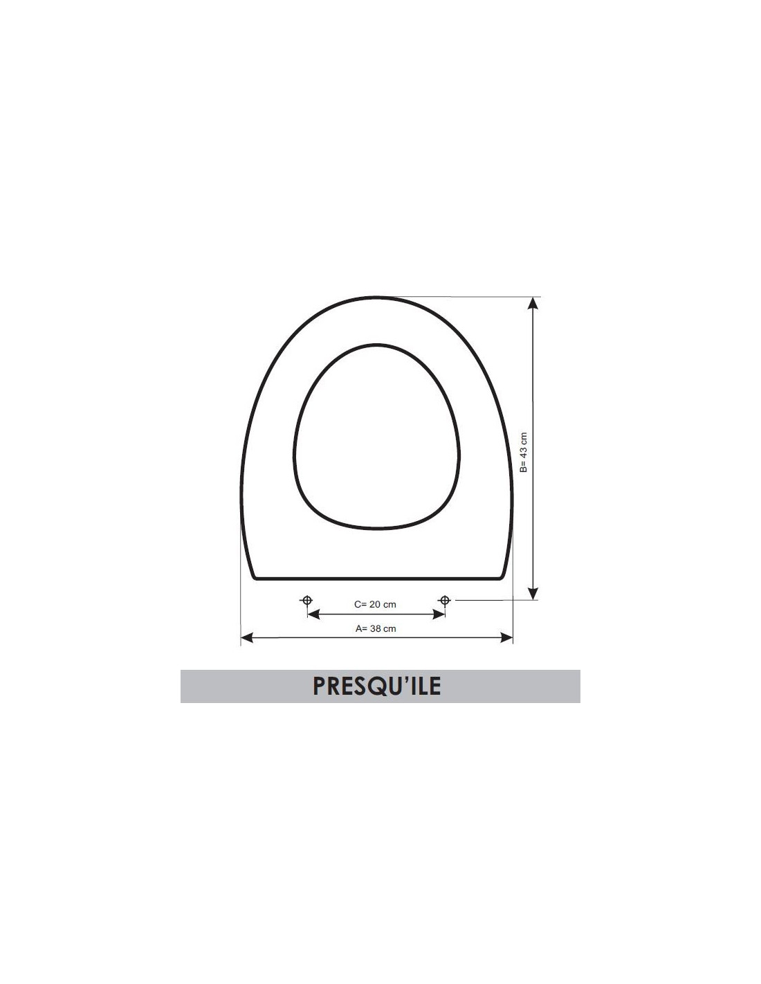 abattant du wc jacob delafon presquile adaptable in. Black Bedroom Furniture Sets. Home Design Ideas