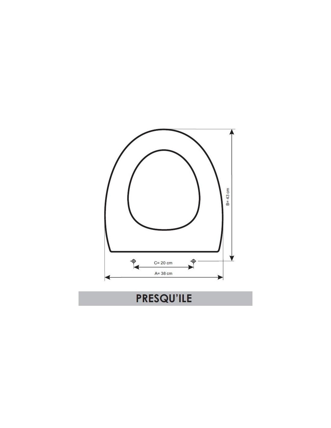 seat wc jacob delafon presquile adaptable in resiwood. Black Bedroom Furniture Sets. Home Design Ideas