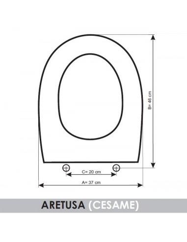 Sedile Wc Cesame Aretusa.Seat Wc Cesame Aretusa Adaptable In Resiwood Tapadelwater Com Tapa De Wc Tapa Vater