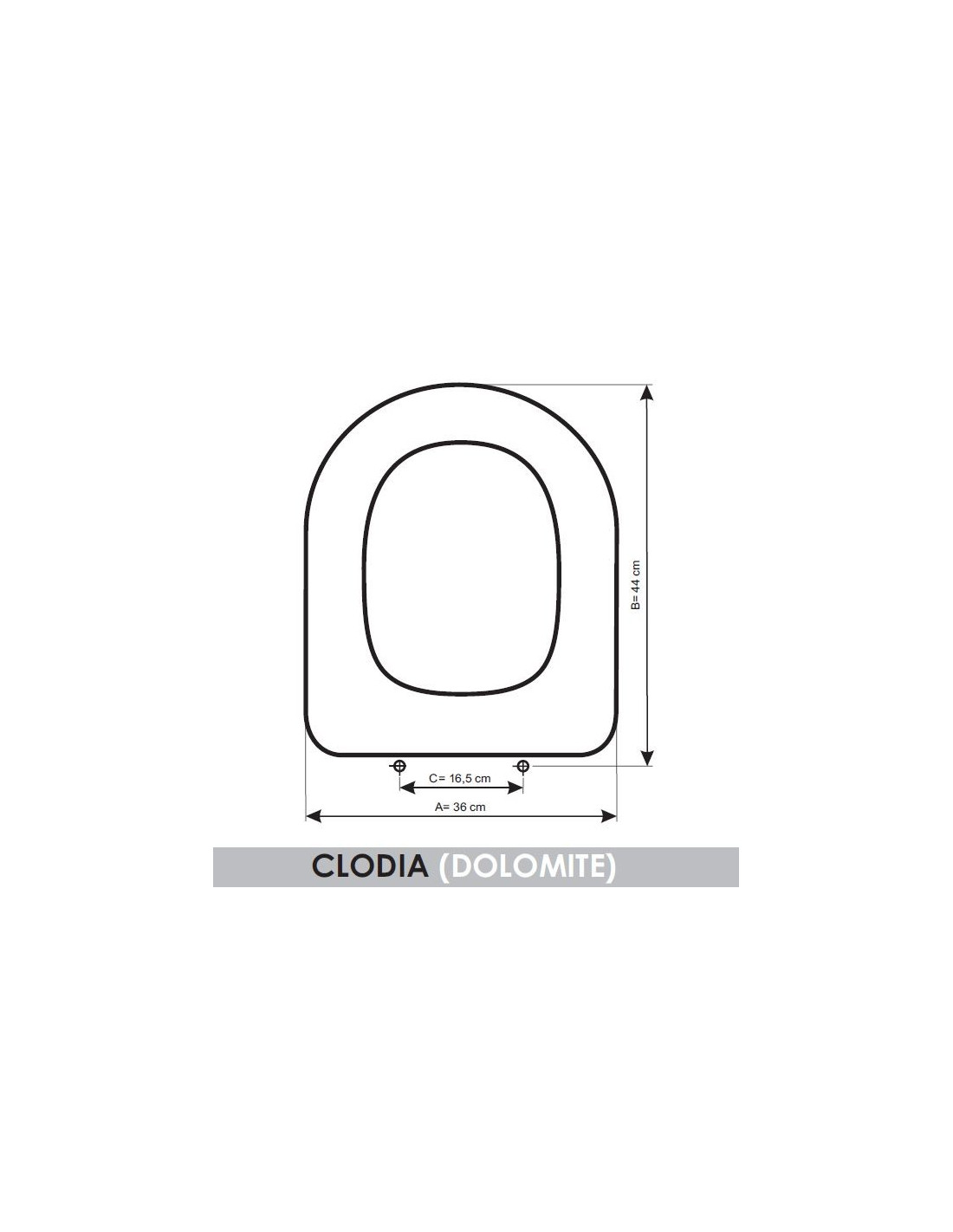 Seat Wc Dolomite Clodia Adaptable In Resiwood