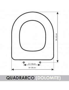 SEDILE WC DOLOMITE QUADRARCO ADATTABILE IN RESIWOOD