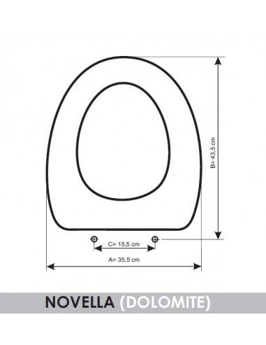Seat Wc Dolomite Novella Adaptable In Resiwood