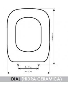 SEAT WC HIDRA DIAL ADAPTABLE IN RESIWOOD