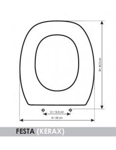 SEAT WC KERAX FESTA ADAPTABLE IN RESIWOOD