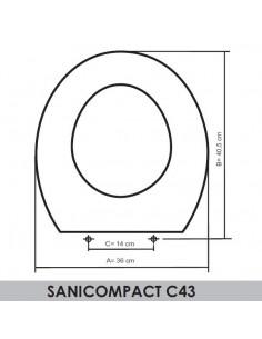 SEDILE WC SFA-SANITRIT SANICOMPACT C43 ADATTABILE IN RESIWOOD