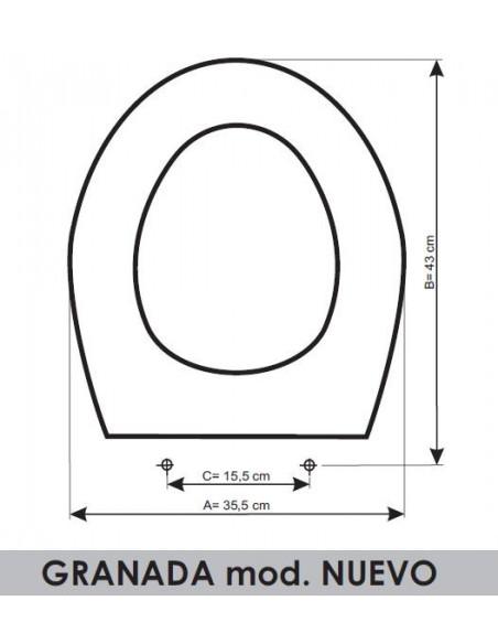 TAPA WC SANGRÁ GRANADA (MOD. NUEVO) ADAPTABLE EN RESIWOOD