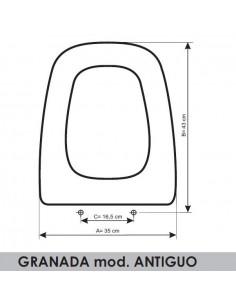 TAPA WC SANGRÁ GRANADA (MOD. ANTIGUO) ADAPTABLE EN RESIWOOD