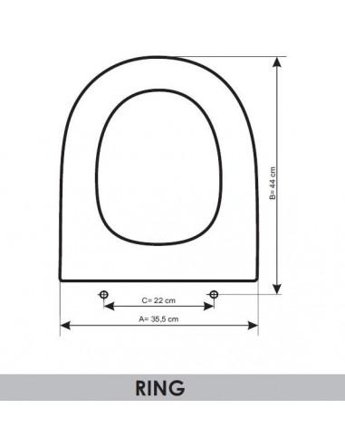 TAPA WC ALTHEA RING ADAPTABLE EN RESIWOOD