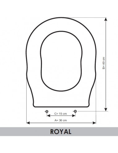 SEAT WC ALTHEA ROYAL ADAPTABLE IN RESIWOOD