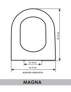 SEAT WC BELLAVISTA MAGNA ADAPTABLE IN RESIWOOD
