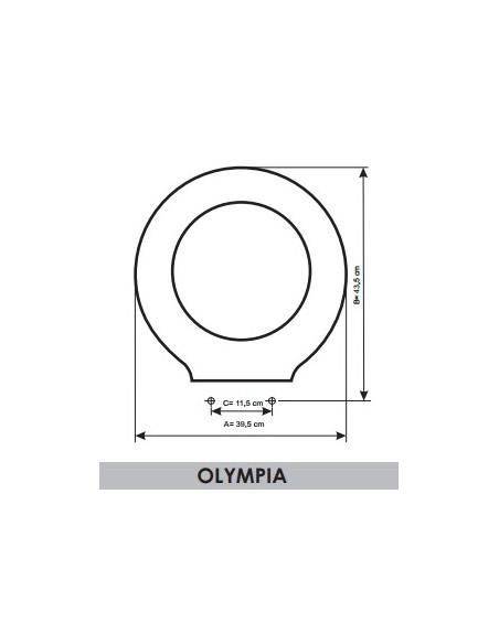 TAPA WC BELLAVISTA OLYMPIA ADAPTABLE EN RESIWOOD