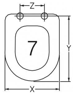 TAPA WC CATALANO C54 ADAPTABLE