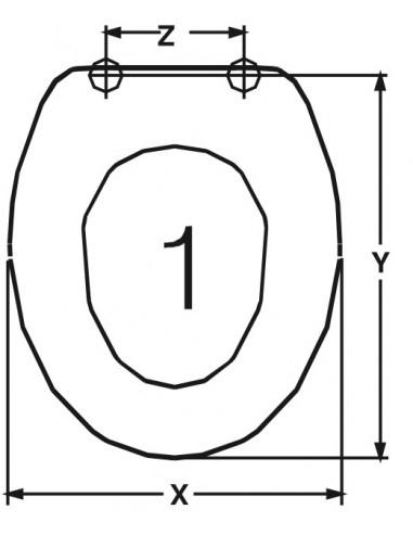 SEAT WC DELTA DELTA ADAPTABLE IN DUROPLAST