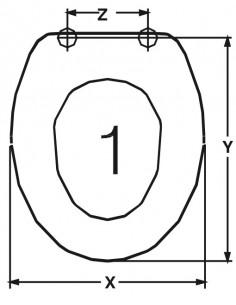 TAPA WC DISEGNO CERAMICA BASIC ADAPTABLE EN DUROPLAST